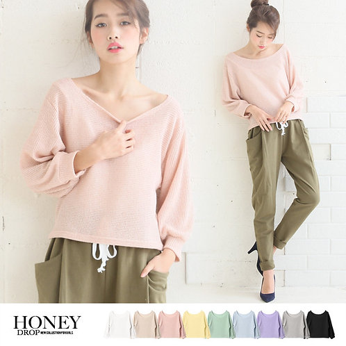 HONEYDROP Slightly Loose Spring Knitted Sweater