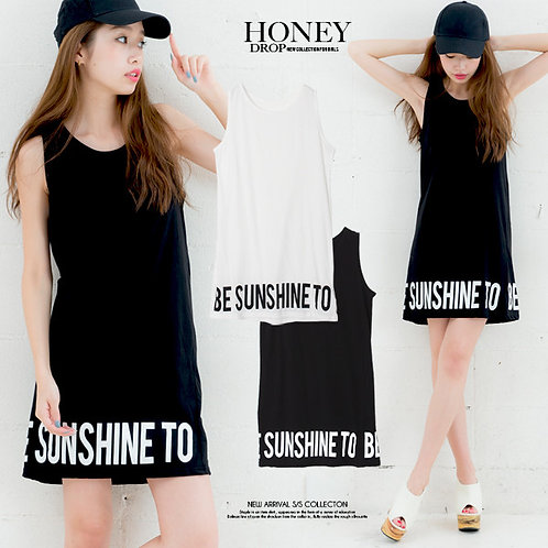 HONEYDROP Long Tank Top Cotton Dress