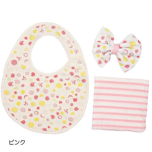 Cocowalk Baby Gift Box 02 Dot (1 Bib + 2 Handkerchief)