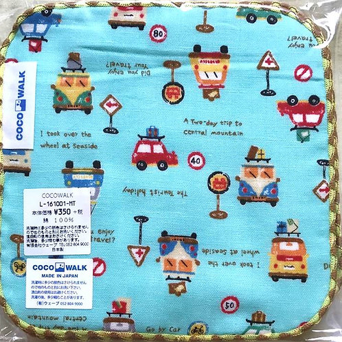 Cocowalk Baby Cotton Handkerchief (Working Cars)