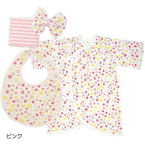 Cocowalk Baby Gift Box 03 (1 Pajamas + 1 Bib + 2 Handkerchief)