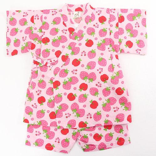 PUTTY Girl's Japanese Yukata (Apple & Strawberry)
