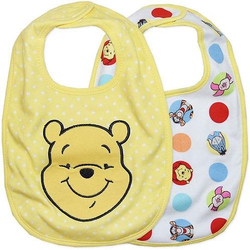 Disney Winnie The Pooh 2 Pack Bibs