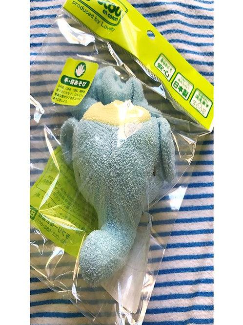 CouCou Cotton Baby Toy Rattle Blue Elephant