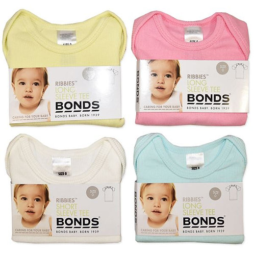 Bonds Baby Unisex Ribbies Long Sleeve Tees