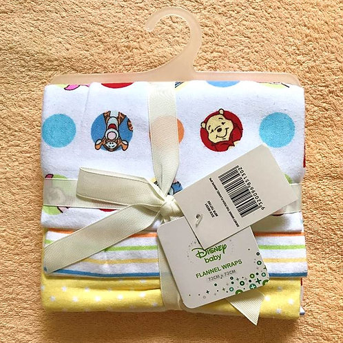 Disney Winnie The Pooh 3 Pack Cotton Flannel Wrap