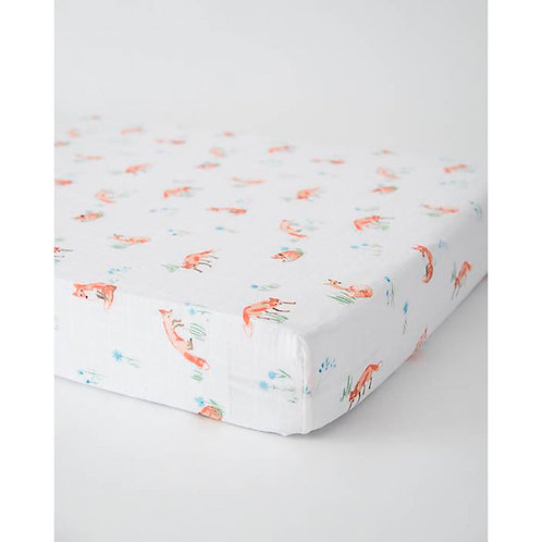 Little Unicorn ~ Cotton Muslin Cot Sheet