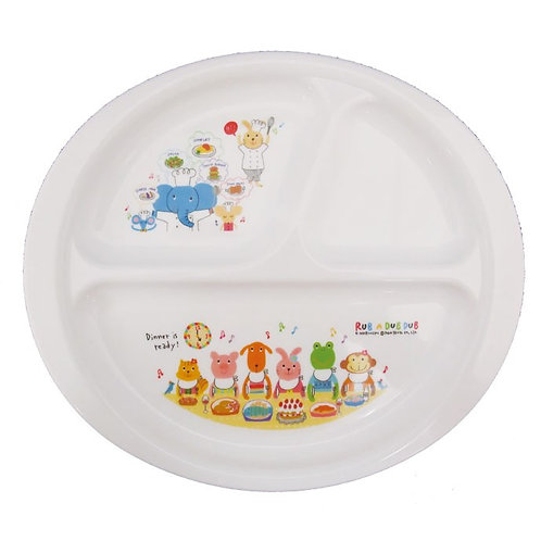 Rub a dub dub Baby Food Divided Plate