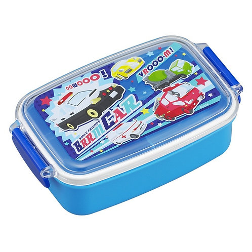 OSK Lunch Box for Boys 500ml (Blue with Cars on Lid)