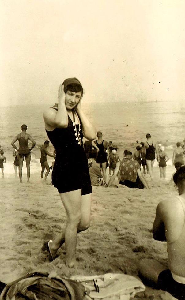 Oma S. at beach