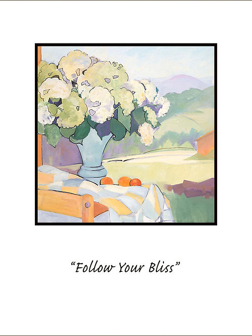 """Follow Your Bliss"" giclee' print"