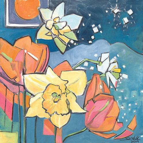 """Ben's Flowers""  giclee' print"