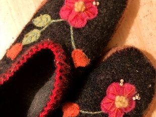 Slippers for a life I didn't have.