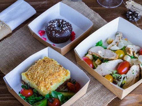 Mercredi : Entrée + Plat + Dessert
