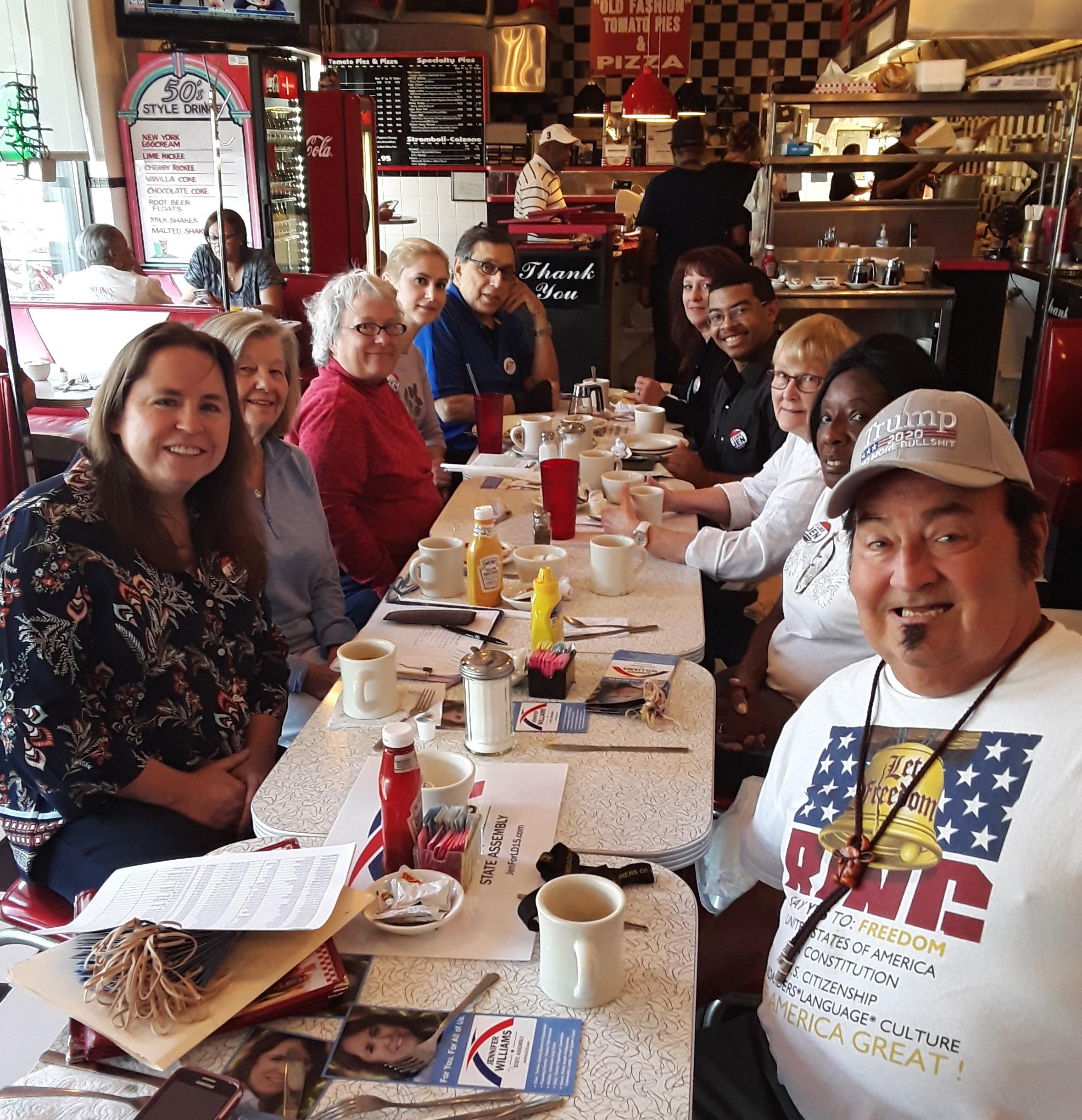 Ewing Meet and Greet Group Shot