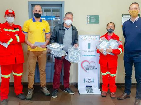 Lions Club doa máscaras para o Hospital de Butiá e Bombeiros Voluntários