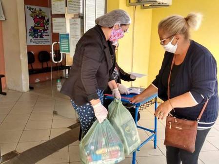 Minas do Leão inicia a entrega de cestas básicas e kits de limpeza com máscara e álcool em gel