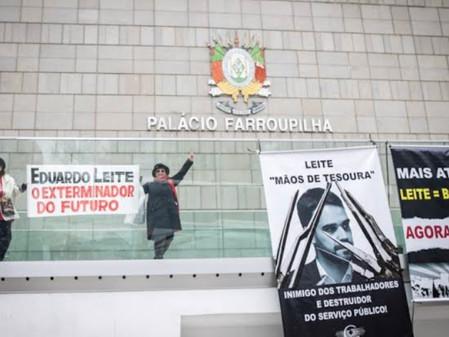 Delegacias de Polícia e Escolas da Região Carbonífera contra o pacote de Eduardo Leite