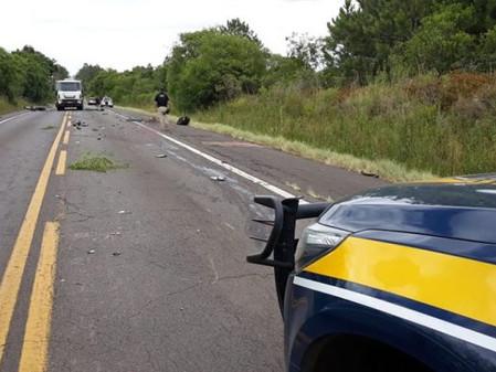 Colisão com vítima fatal na BR-290, em Rio Pardo
