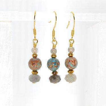 Vibrant Vortex Earrings