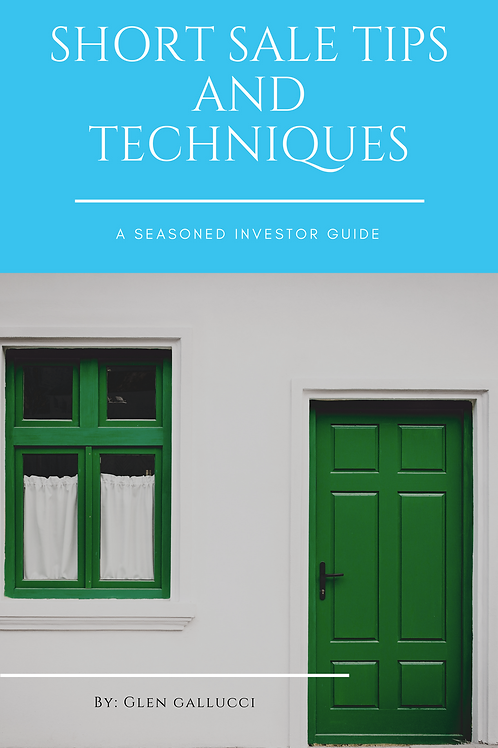 Short Sale Tips And Techniques