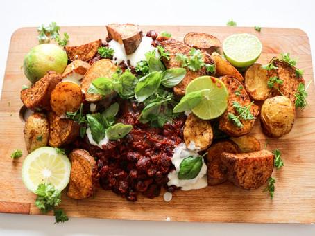 Jamie Olivers Traybake Smokie Beans (vegan)