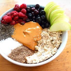 Vegan high protein oatmeal with chia seeds #porridge #chiapudding #anti- Corona Bowl