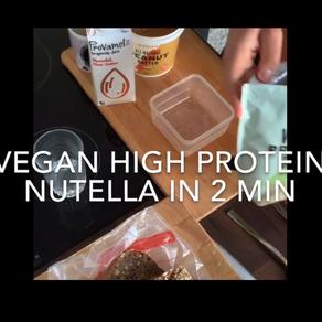 Vegan🌱 high protein Nutella recipe in less than 2 min 🍫😋💪🏼