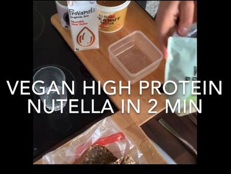 Vegan🌱 high protein Nutella recipe in less than 2 min 🍫😋💪🏼