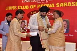 Felicitation of Lion AP Singh