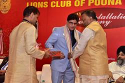 Felicitation of Lion Girish Malpani