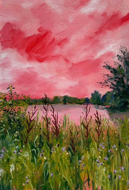 Three Lakes in Pink