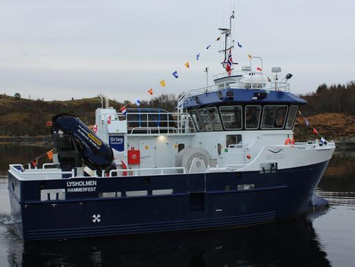 FØRSTE AV TO NYBYGG LEVERT FRA VIKNASLIPEN TIL GRIEG SEAFOOD