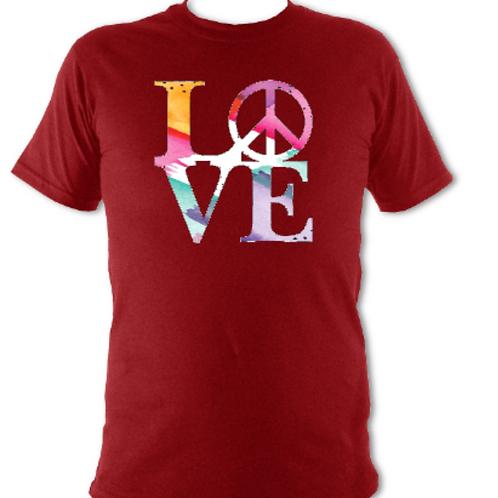 "Deep Red ""LOVE"" Tee Shirt"