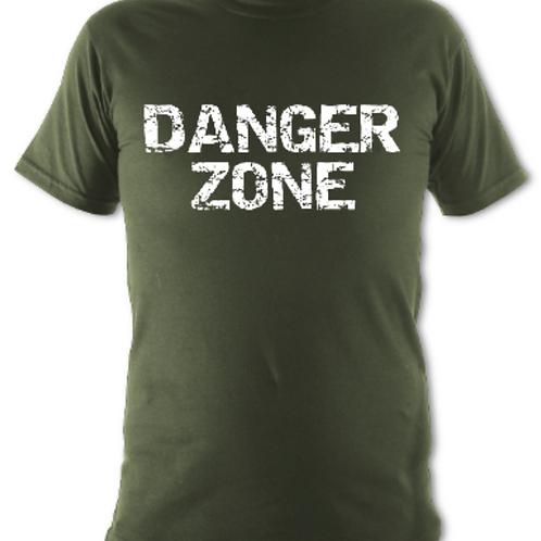 "Khaki ""Danger Zone"" Tee Shirt"