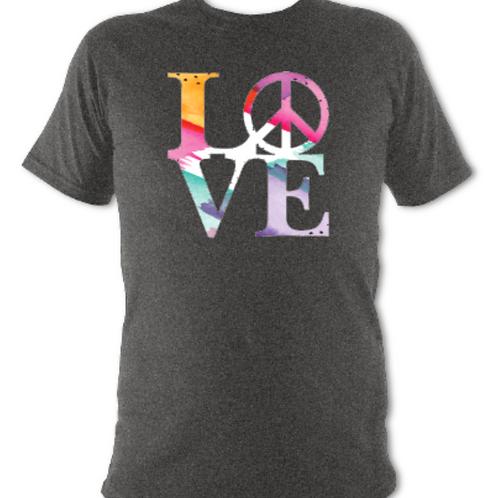 """Deep Grey """"LOVE"""" Tee Shirt"""