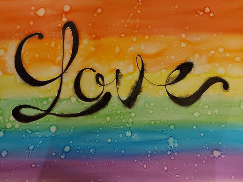 """Love is Love"" Rainbow Painting"