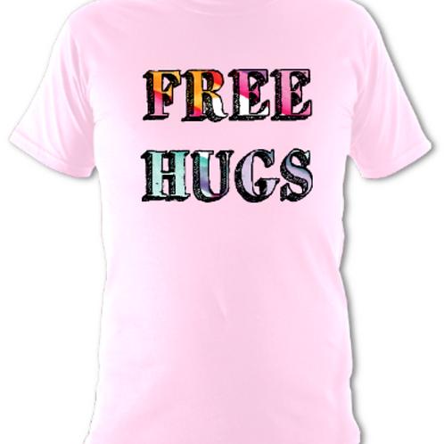 """Baby Pink """"Free Hugs"""" Tee Shirt"""