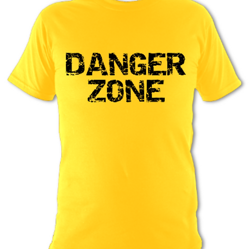 """Yellow """"Danger Zone"""" Tee Shirt"""