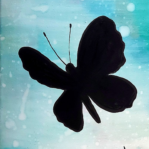 """""""Buttterfly in Flight"""" Acrylic Painting"""