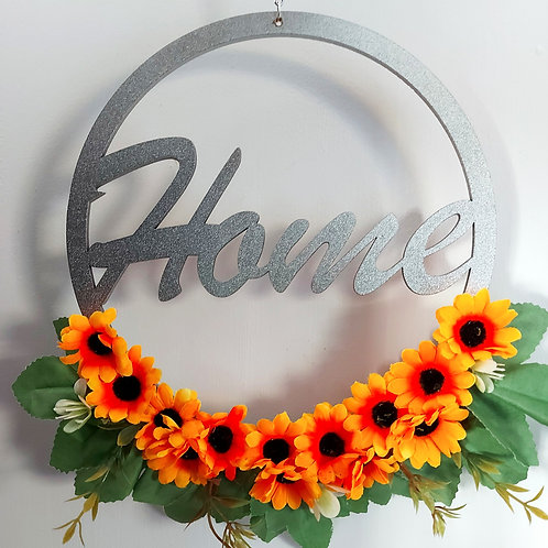 Sunflower Home Wreath