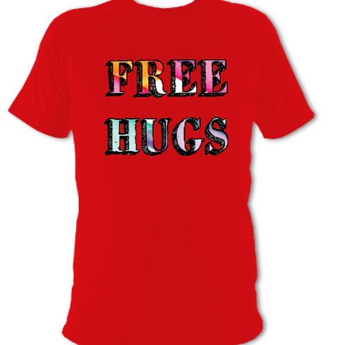 "Red ""Free Hugs"" Tee Shirt"