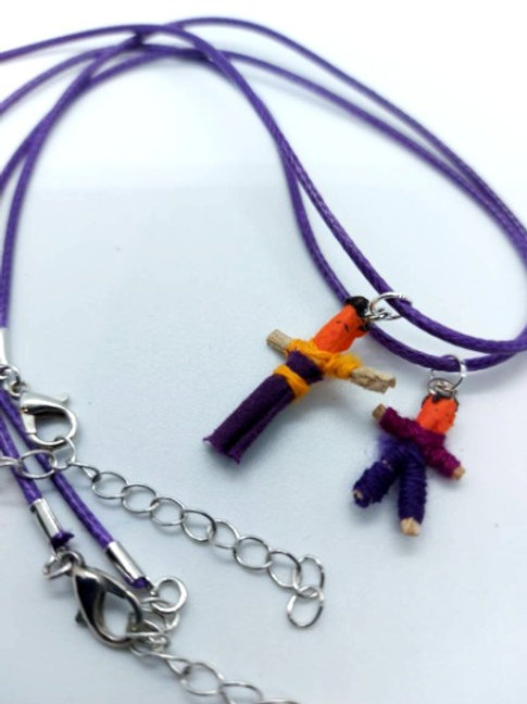 Purple Worry Buddy Necklace