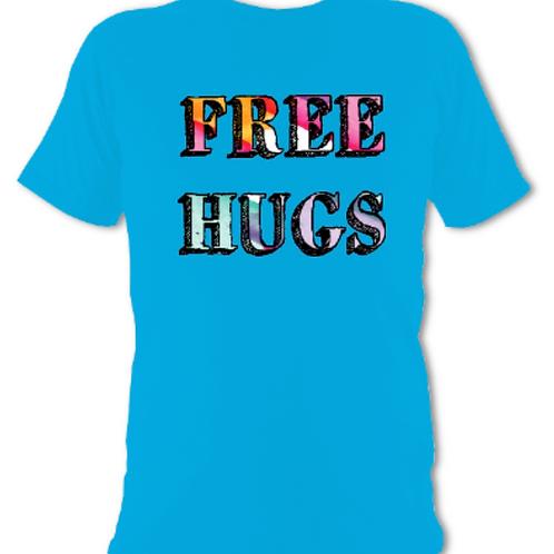 "Blue ""Free Hugs"" Tee Shirt"
