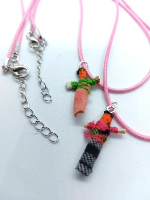 Baby Pink Worry Buddy Necklace