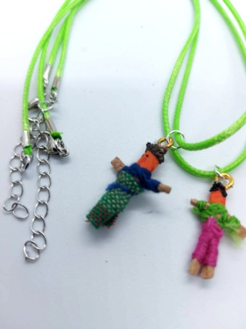 Green Worry Buddy Necklace