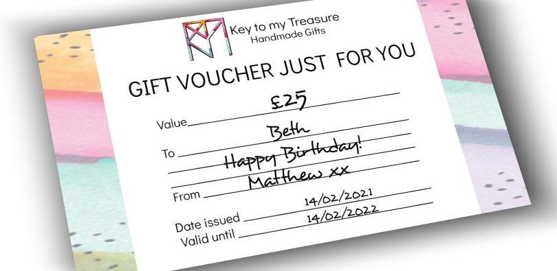 Key to my Treasure Gift Voucher