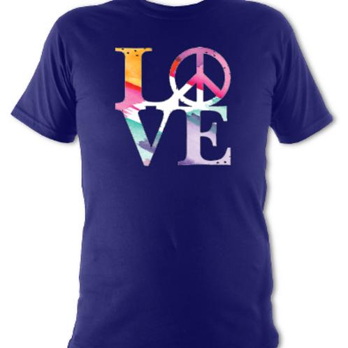 "Navy ""LOVE"" Tee Shirt"