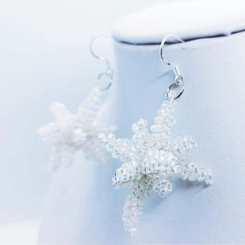3D Christmas Star Earrings