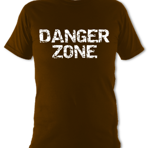 "Brown ""Danger Zone"" Tee Shirt"